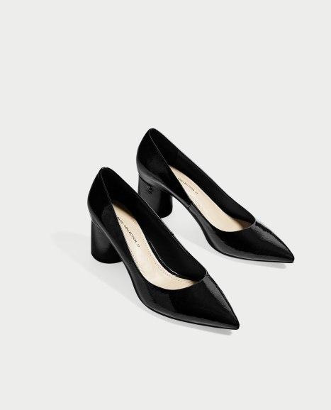 Zapatos tacon ancho ZARA