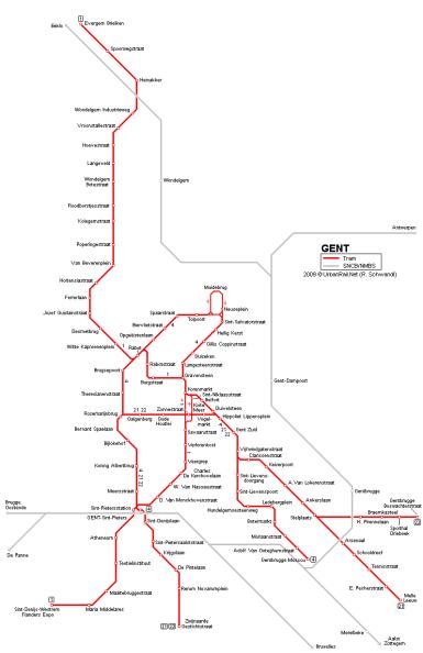 Gante tranvía